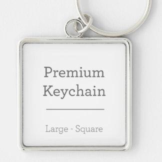 Kundenspezifisches quadratisches Keychain Schlüsselanhänger