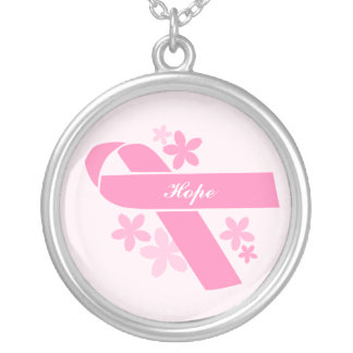Kundenspezifisches rosa Band Versilberte Kette