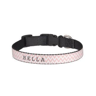 Kundenspezifisches rosa Zickzack Hundehalsband Haustierhalsband