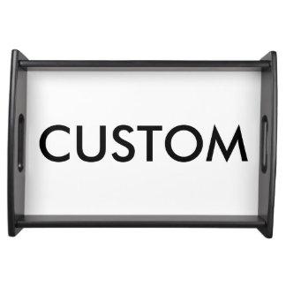 Kundenspezifisches schwarzes hölzernes tablett