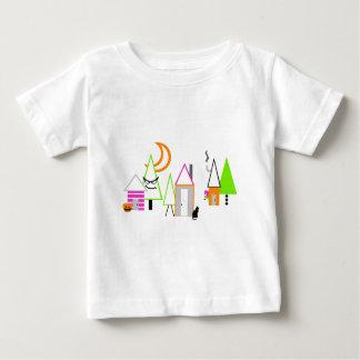 kundenspezifisches schwarzes orange Lila Baby T-shirt