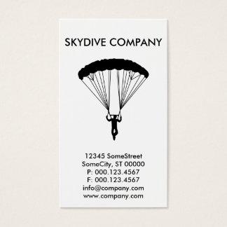 kundenspezifisches skydive Geschäft Visitenkarte