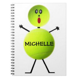 Kundenspezifisches Tennis-Spieler-Notizbuch Spiralblöcke