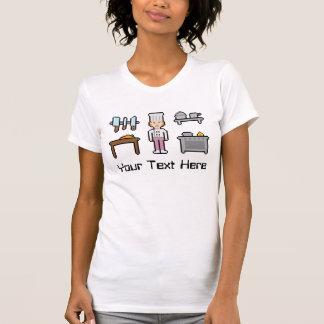 Kundenspezifisches Text-Pixel-Kochs-Mädchen T Shirt