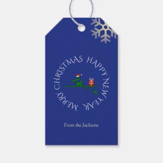 Kundenspezifisches Textblau des Weihnachtsrower Geschenkanhänger