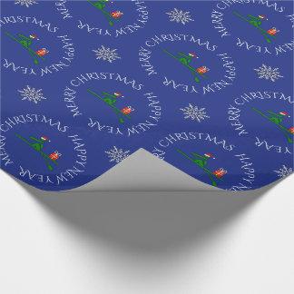 Kundenspezifisches Textblau des Weihnachtsrower Geschenkpapier