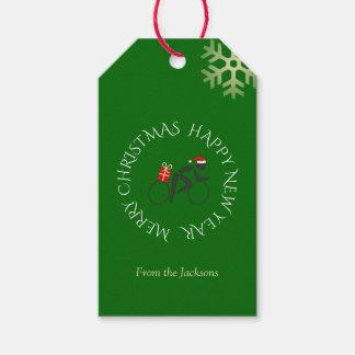 Kundenspezifisches Textgrün des Geschenkanhänger