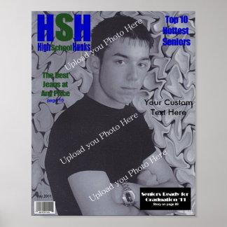 Kundenspezifisches Titelseite, Highschool Abschlus Poster