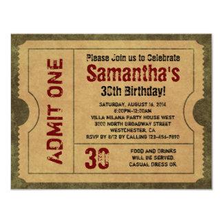 Kundenspezifisches Vintages Gold lassen die eine 10,8 X 14 Cm Einladungskarte