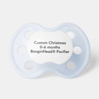 Kundenspezifisches Weihnachten 0-6 Monate Schnuller