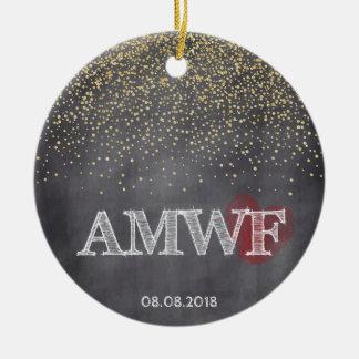 Kundenspezifisches Weihnachten Rundes Keramik Ornament
