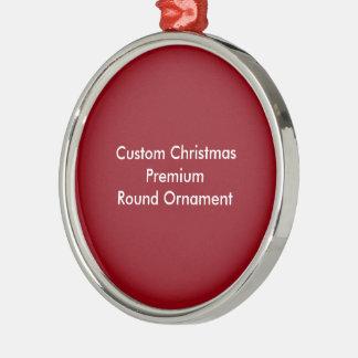 Kundenspezifisches Weihnachtserstklassige runde Silbernes Ornament