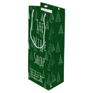 Kundenspezifisches Weihnachtsgrün und -WEISS Geschenktüte Für Weinflaschen