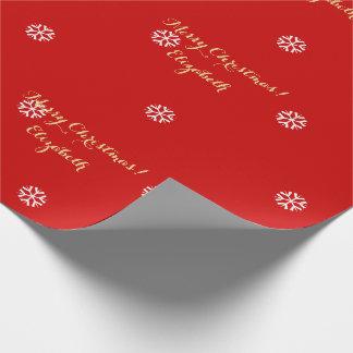 Kundenspezifisches Weihnachtsrotes Einpackpapier