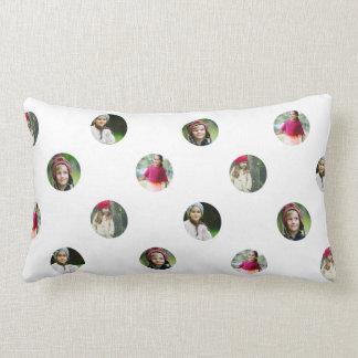 Kundenspezifisches weißes Foto-Punkt-Kissen Lendenkissen