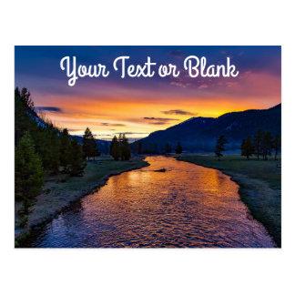 Kundenspezifisches Yellowstone Nationalpark Postkarte