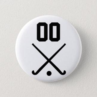 Kundenspezifisches Zahl-Team-Feld-Hockey Runder Button 5,1 Cm