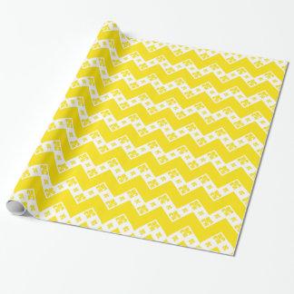 Kundenspezifisches Zickzack 1 Gelb Geschenkpapier