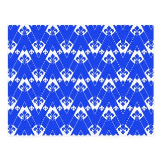 Kundenspezifisches Zickzack Blau 2 Postkarte
