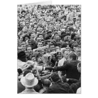 Kundgebung '63 John F. Kennedy JFK Fort Worth Karte