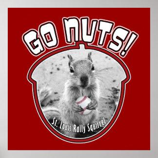 Kundgebungs-Eichhörnchen - Louis, Missouri Poster