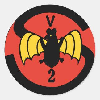 Kundschaftendes Geschwader VCS-2 Runder Sticker
