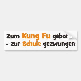 Kung Fu Auto Sticker