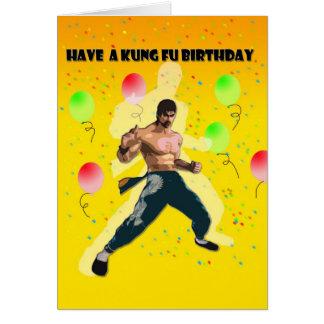 kung fu Geburtstag Karte