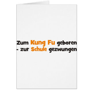 Kung Fu Grußkarte