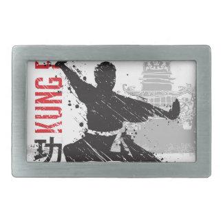 Kung Fu Rechteckige Gürtelschnalle
