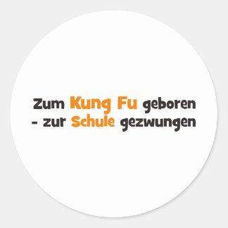 Kung Fu Runder Aufkleber