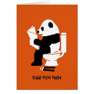 Kung pfui Panda-lustiger Geburtstag Grußkarte