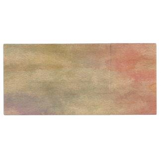 Kunst abstrakter Watercolorhintergrund auf Papier Holz USB Stick