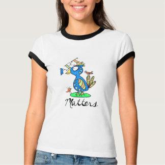 Kunst-Angelegenheiten! Bunter Gekritzel-Vogel-T - T-Shirt