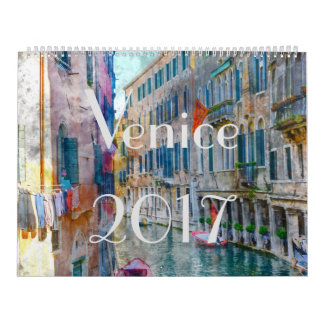 Kunst-Aquarell-Kalender 2017 Venedigs Italien Abreißkalender