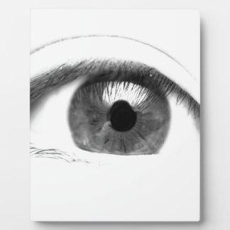 Kunst-Augen-Ansicht-Gesicht Fotoplatte