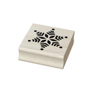 Kunst-Briefmarke der Schneeflocke 3 Gummistempel