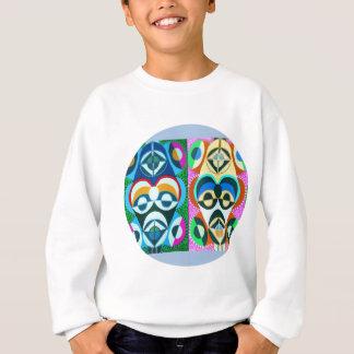 Kunst-bunte Zukunft - Obama-Faktor rund Sweatshirt