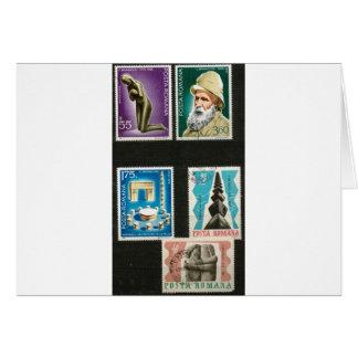 Kunst Constantin Brancusi auf Briefmarken Karte