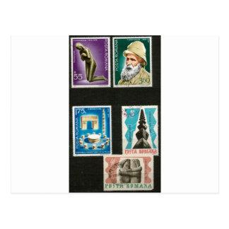 Kunst Constantin Brancusi auf Briefmarken Postkarte