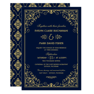 Kunst-Deko-Art der Hochzeits-Einladungs-| 12,7 X 17,8 Cm Einladungskarte