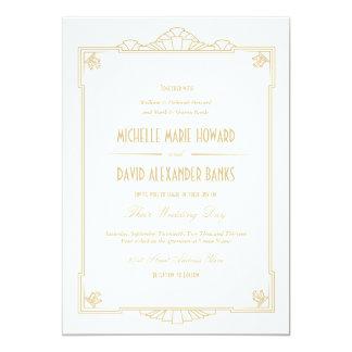 Kunst-Deko-Art-Hochzeits-Einladung 12,7 X 17,8 Cm Einladungskarte