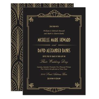 Kunst-Deko-Art-Hochzeits-Einladung Karte