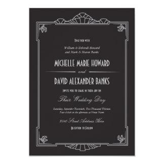 Kunst-Deko-Art-Hochzeits-Einladung (Silber) 12,7 X 17,8 Cm Einladungskarte