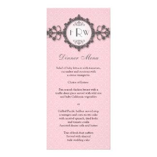 Kunst-Deko-Band-Rosa-Hochzeits-Menü Individuelle Werbe Karte