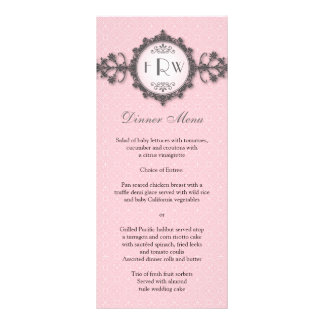 Kunst-Deko-Band-Rosa-Hochzeits-Menü Karten Druck