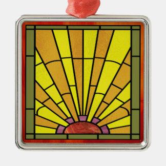 Kunst-Deko-beflecktes Glas 3 Silbernes Ornament