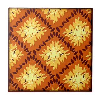 Kunst-Deko-Blumen-Gitter (Kürbis-Gewürz, Goldrute) Fliese