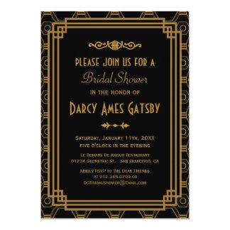 Kunst-Deko-Brautparty-Einladungen Karte