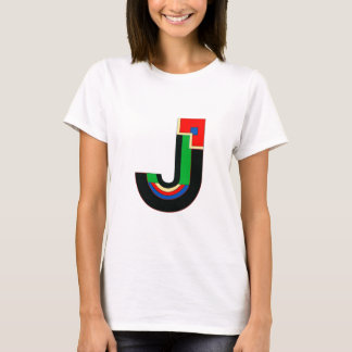 Kunst-Deko-Buchstabe J T-Shirt
